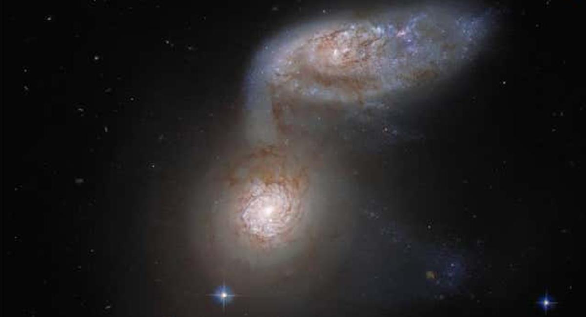 Ambas constelaciones en fusión, están en la constelación Virgo, a 80 millones de años luz de la Tierra. Foto: Twitter @ESA