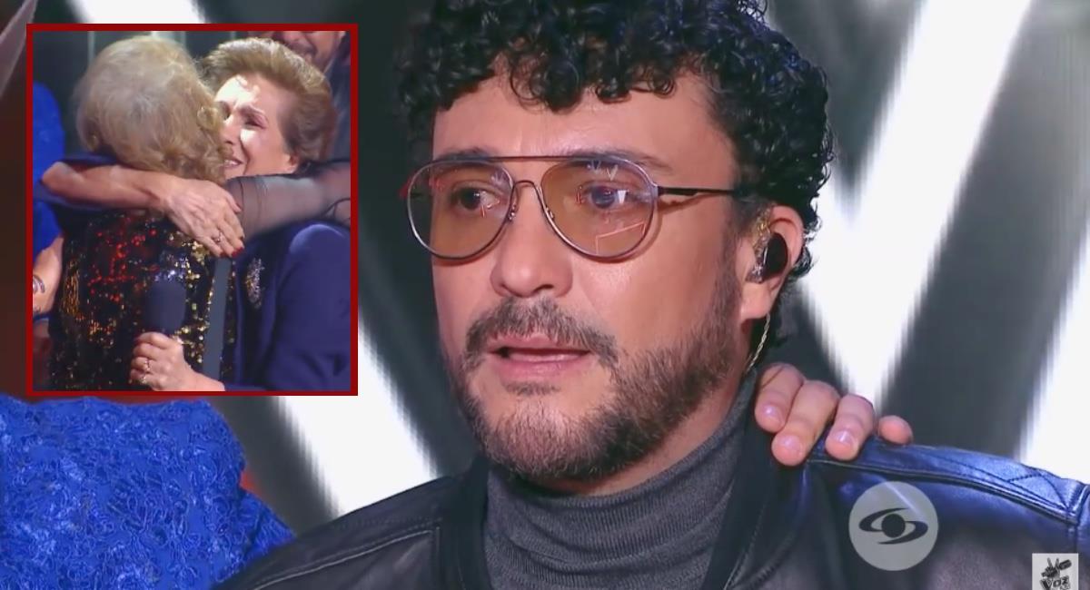 El cantante se ha mostrado más emotivo que nunca en esta temporada. Foto: Youtube La Voz Colombia.