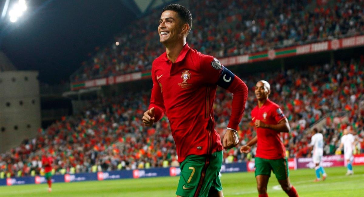 Triplete de Cristiano Ronaldo con Portugal. Foto: EFE