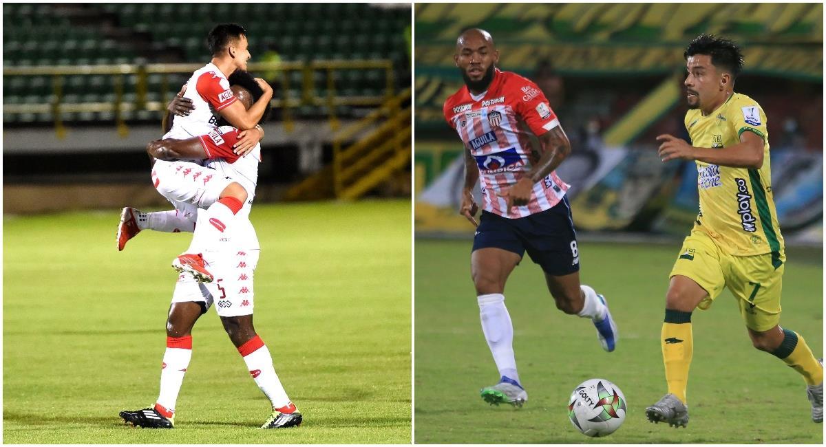 Santa Fe venció a Patriotas y Bucaramanga le robó la victoria el Junior. Foto: Twitter @Dimayor