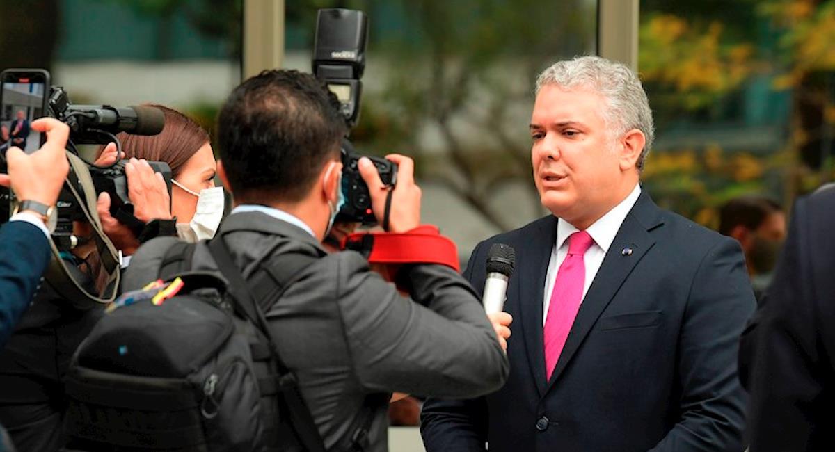 Duque habló sobre crisis migratoria de haitianos. Foto: EFE