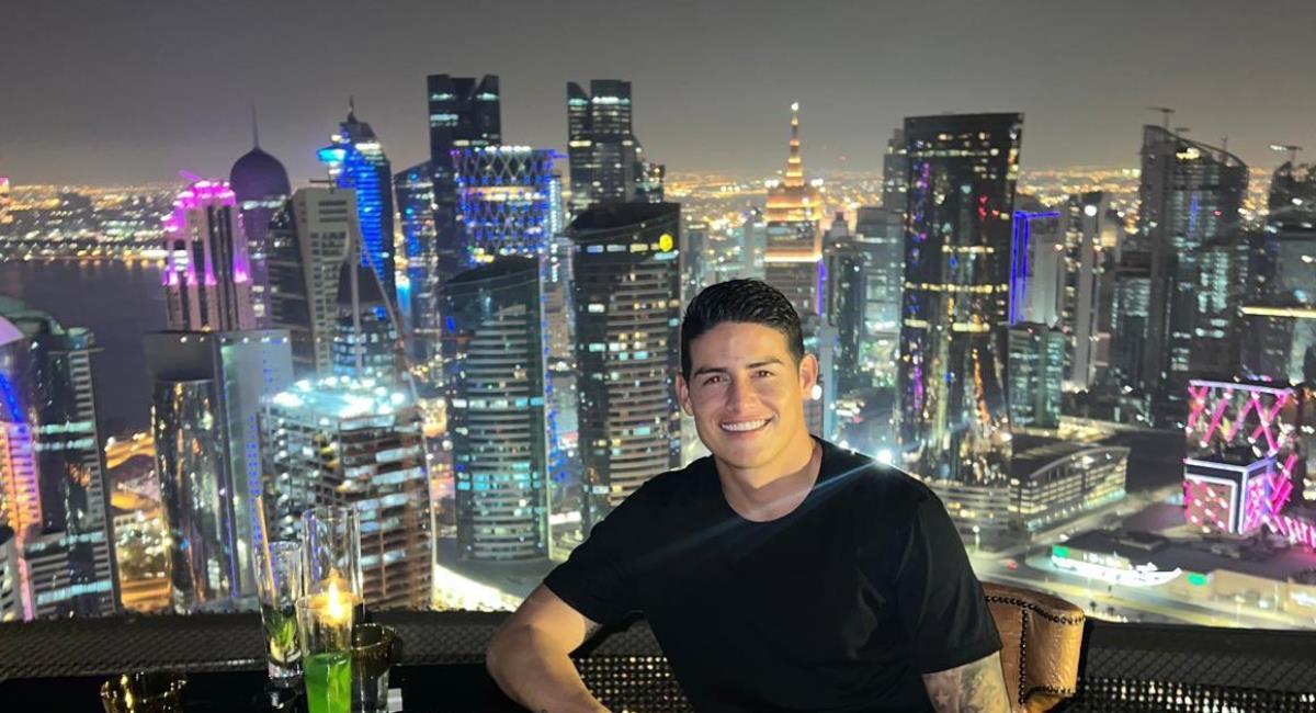 James disfruta de su nueva vida en Catar. Foto: Twitter Prensa redes James Rodríguez.