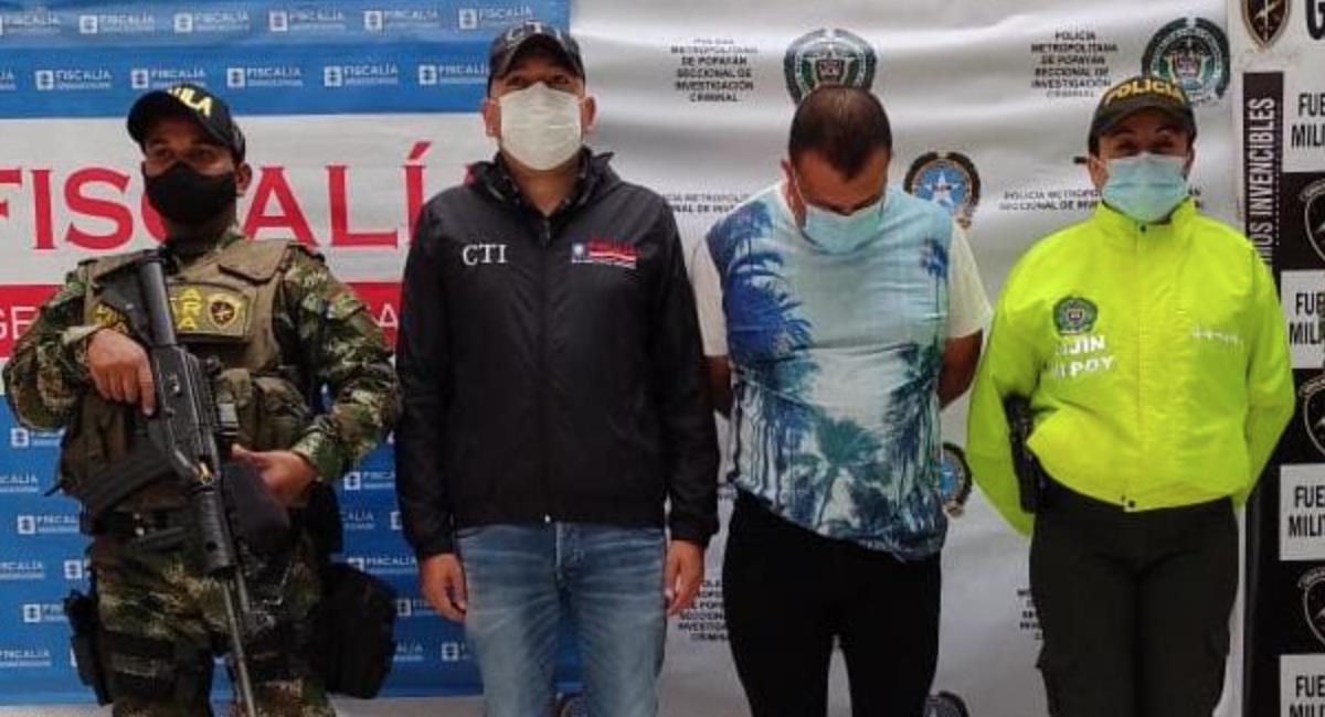 Detención de Carlos Alberto Moncayo Cabrera, determinador de homicidio. Foto: Fiscalía General de la Nación
