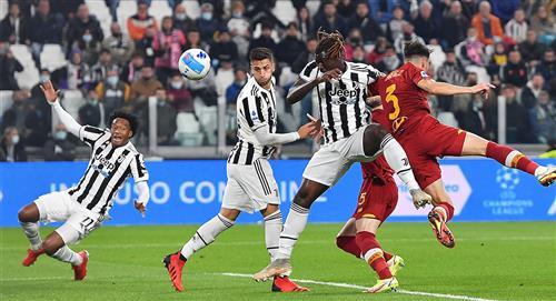 Juan Guillermo Cuadrado participa en el gol de la victoria de la Juventus ante la Roma