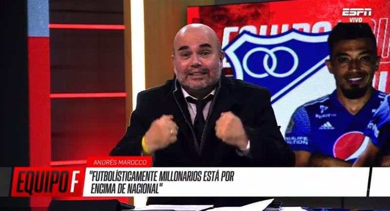 Marocco aseguró que Millonarios es más que Nacional