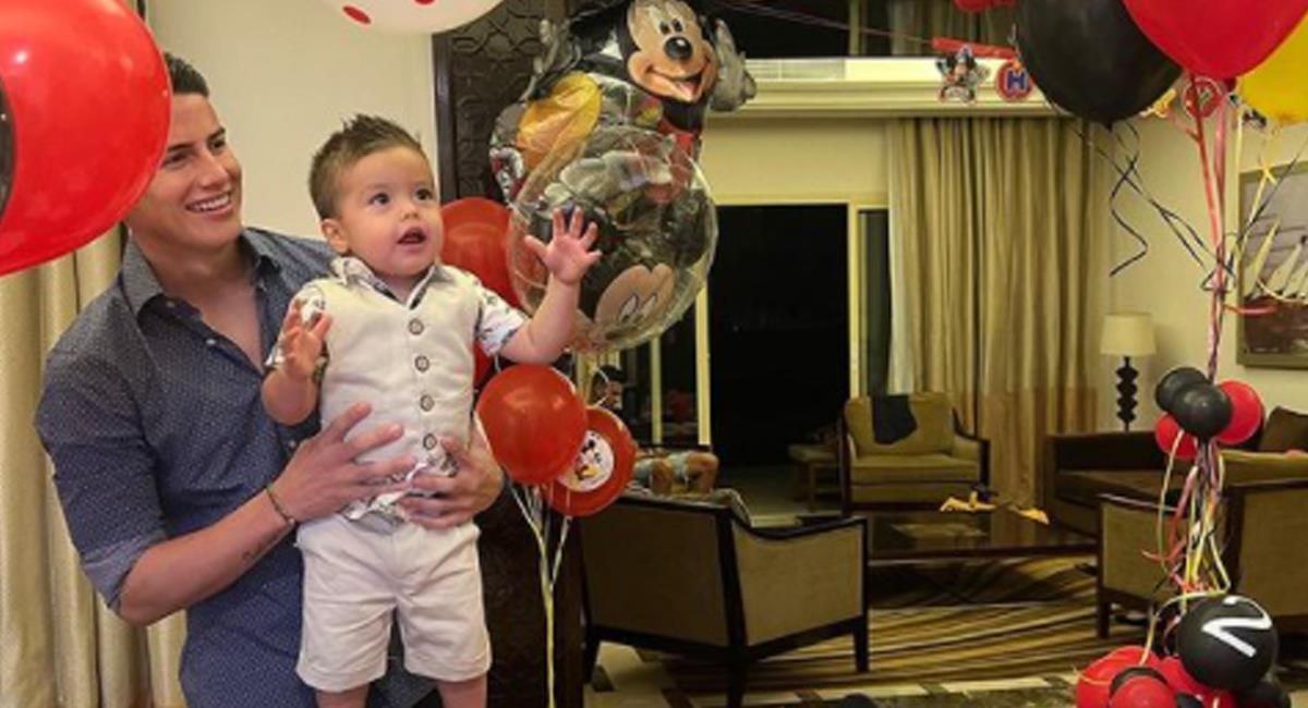 Así fue el cumpleaños de Samuel hijo de James Rodríguez