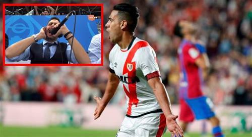 Pablo Giralt y su emotiva narración del gol de Falcao al FC Barcelona